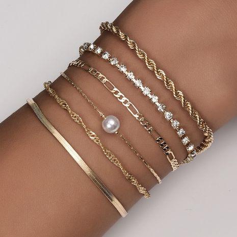 Combinación de pulsera de perlas de mujer de moda personalizada NHAJ254151's discount tags