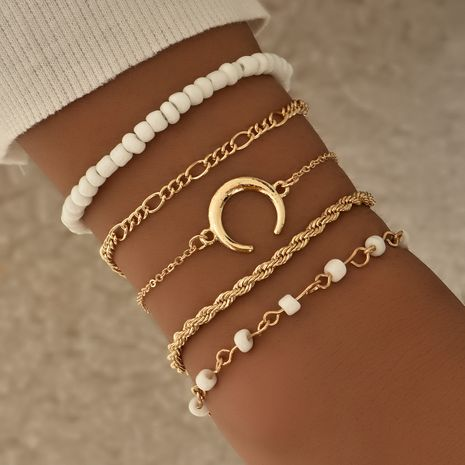 Fashion street style big-name moon bracelet five-piece set female set  NHAJ254149's discount tags
