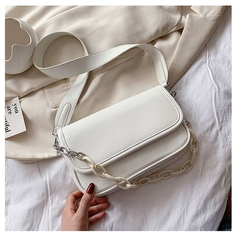 New trendy small fresh messenger shoulder texture simple and versatile small square bag NHTC253976's discount tags