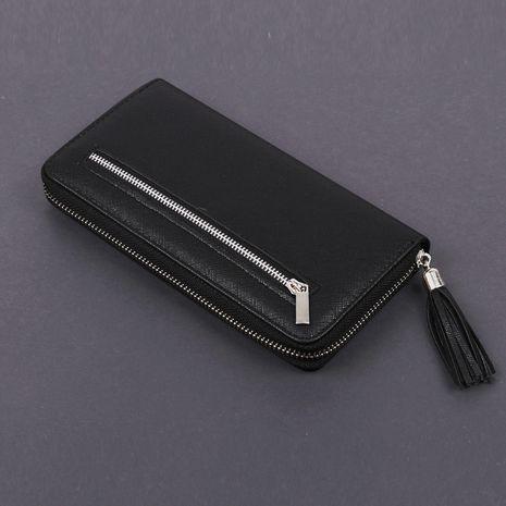 Coréen longue fermeture à glissière position multi-cartes grande capacité pochette nouveau portefeuille de téléphone portable pour hommes en gros NHBN254011's discount tags