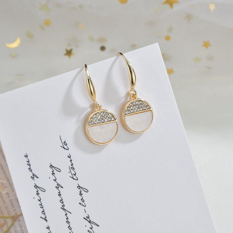 micro-inlaid fashion wild romantic Korean new trendy women's earrings  NHBQ254089