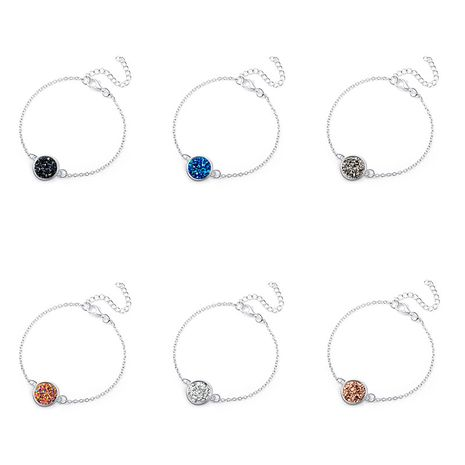 Hot-Selling Silver Round Resin Natural Stone Love Bracelet for Lover Gift NHAN254163's discount tags