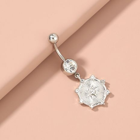 fashion piercing diamond sky star pendant stainless steel natural color belly button nail wholesale NHAN254176's discount tags