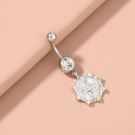 Moda piercing diamante cielo estrella colgante acero inoxidable color natural ombligo uña al por mayor NHAN254176's discount tags