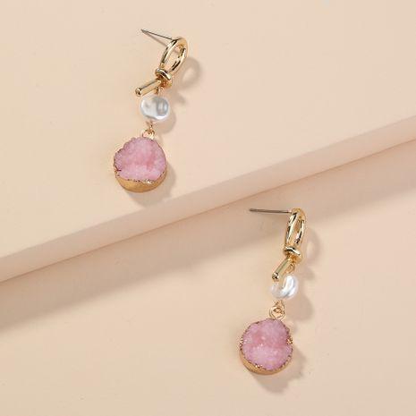 boucles d'oreilles mi-longues pendentif en grappe de cristal design noué rétro polyvalent en gros NHAN254185's discount tags