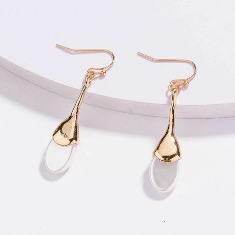 Vente chaude coréenne ovale plate perle simple boucles d'oreilles baroques en gros NHAN254183's discount tags