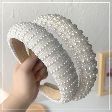 Bandeau de mode perle dames bandeau rétro en gros NHOF254193's discount tags