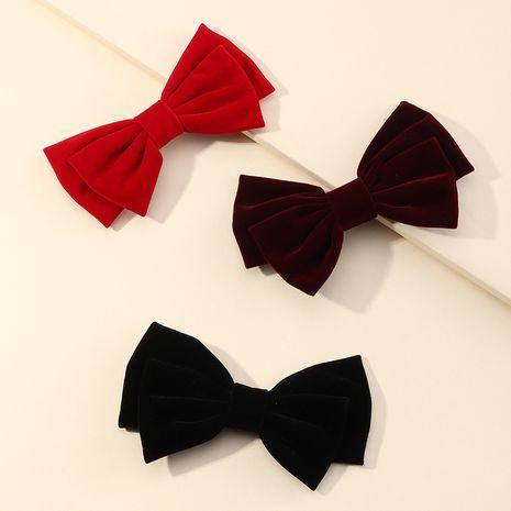 Style coréen arc en épingle à cheveux queue de cheval tête arrière tissu clip supérieur clip de bec de canard en gros NHAU254202's discount tags