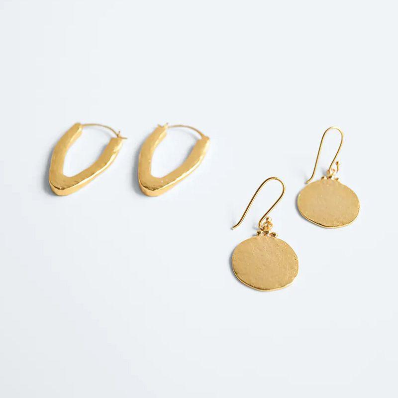V-shaped metal geometric creative exquisite earrings jewelry wholesale NHLA254218