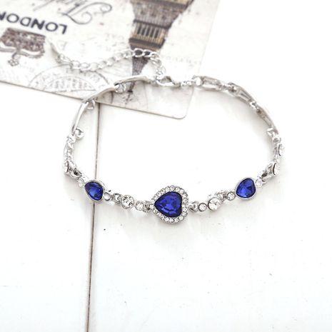 Ocean Heart Love-shaped Zircon Crystal Diamond Fashion alloy Bracelet NHLL254220's discount tags