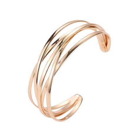 nouvelle mode simple croix en métal ouvert bracelet de style exagéré en gros NHMO254241's discount tags