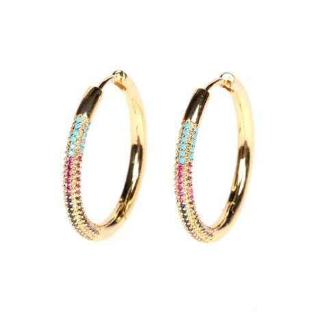 circle same style colorful zircon fashion exaggerated oval big earrings wholesale NHPY254254's discount tags