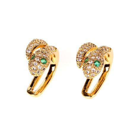 New Fashion Spirit Snake Ear Clip Boucles d'oreilles en diamant Hip Hop non percées en gros NHPY254257's discount tags