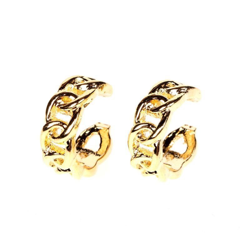 new 8 word ring chain buckle earrings ear clip wholesale NHPY254264