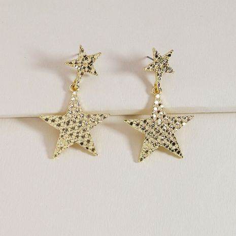 summer popular new metal texture five-star hot selling earrings wholesale NHGU254270's discount tags