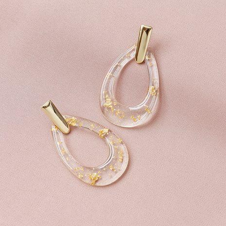 Pendientes geométricos de lámina de oro acrílica de moda venta al por mayor caliente NHGU254276's discount tags