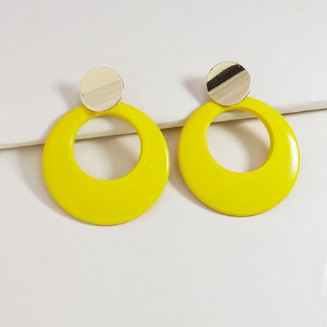 summer popular new holiday style round hollow color earrings wholesale NHGU254280's discount tags