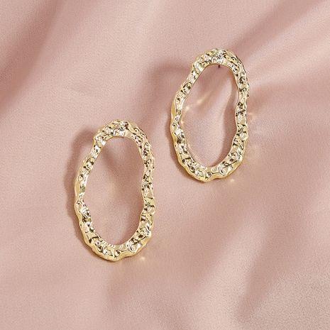 summer popular pair of metal beaten earrings hot-selling jewelry wholesale NHGU254282's discount tags