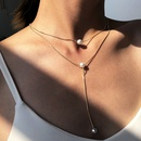 Fashion  pearl pendant  womens necklace wholesale NHMD254294