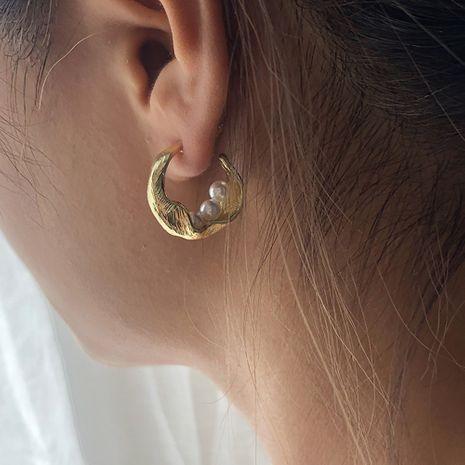 vente chaude de nouvelles boucles d'oreilles en alliage de perles NHMD254302's discount tags
