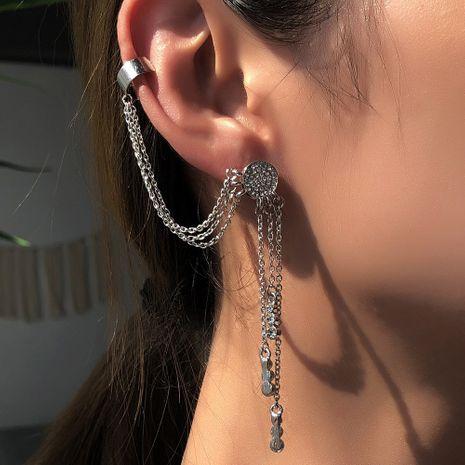 nuevos pendientes largos y simples de diamantes venta caliente al por mayor NHMD254309's discount tags