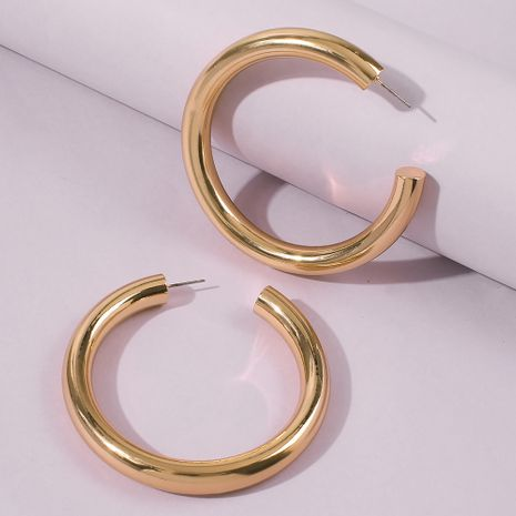 exaggerated C-shaped big ring earrings wholesale nihaojewelry  NHMD254311's discount tags