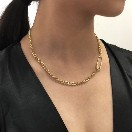 Fashion   punk style personality alloy necklace clavicle chain  wholesale NHMD254321's discount tags