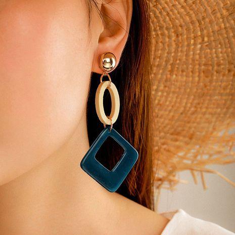 multi-layer rhinestone Devil's eye Acrylic diamond braided rope rhinestone earrings wholesale NHGY254360's discount tags