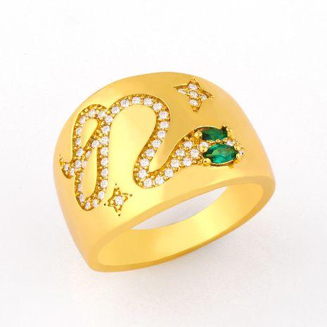 Bague en diamant avec bague serpent à face large de personnalité de la mode NHAS254363's discount tags