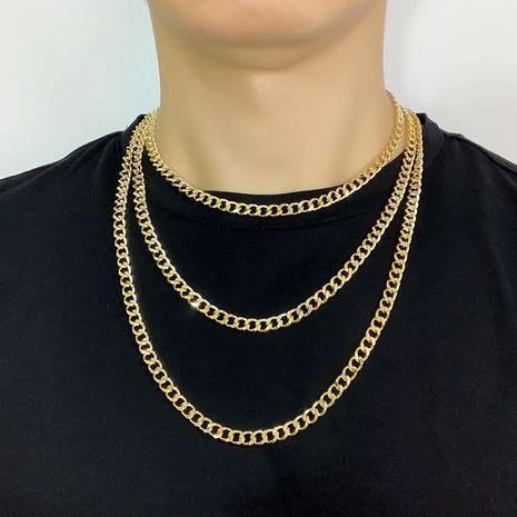Personnalité de la mode Hiphop chaîne collier hommes chaîne de la clavicule hip hop NHAS254364's discount tags