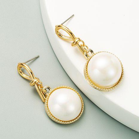 Pendentif de perles de mode simples longues boucles d'oreilles en gros NHLN254378's discount tags