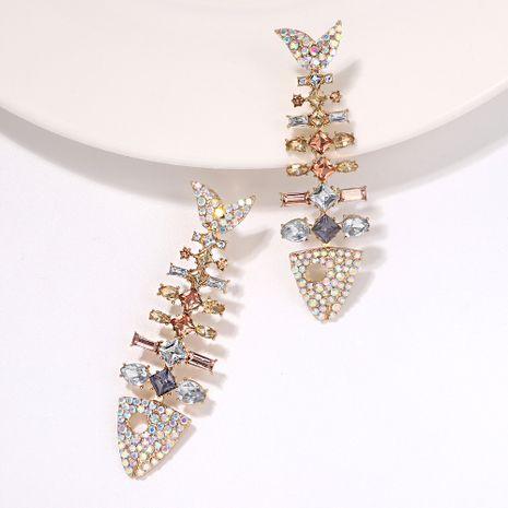 fashion exaggerated mermaid skeleton diamond-studded charm earrings wholesale NHJQ254384's discount tags