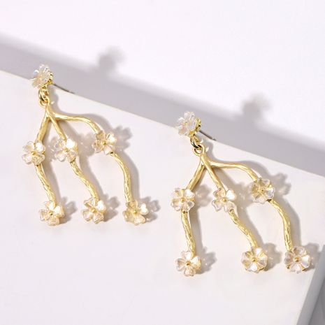 Nepalese style flower inlaid alloy hot selling creative fashion earrimgs wholesale NHJQ254394's discount tags