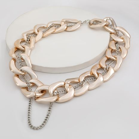 Exaggerated alloy clavicle chain  hip-hop sweater chain  necklace NHJE254418's discount tags