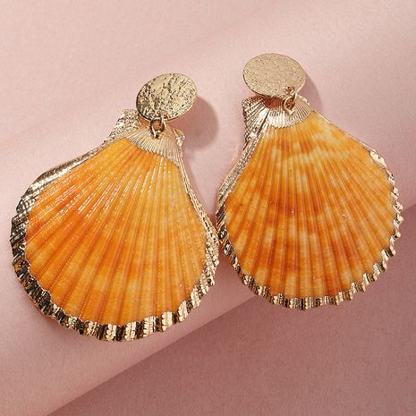 kreative gelbe Muschel Mode Metall Ohrringe Großhandel Nihaojewelry NHNZ254441's discount tags