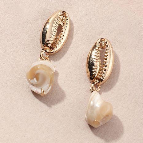 boucles d'oreilles simples cercle géométrique long gland perle en gros NHNZ254442's discount tags