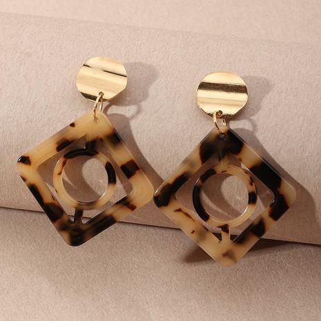Boucles d'oreilles creuses carrées géométriques en plaque d'acétate de mode en gros NHNZ254449's discount tags