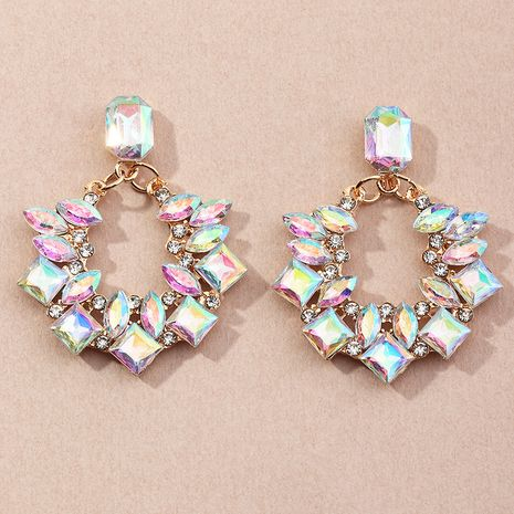 creative geometric alloy inlaid rhinestone diamond earrings wholesale NHNZ254453's discount tags