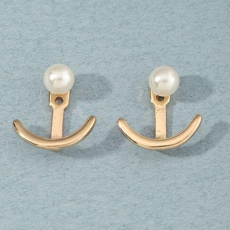 boucles d'oreilles en perles d'ancre en métal de mode en gros nihaojewelry NHNZ254458's discount tags