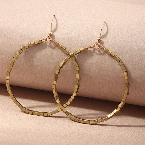 pendientes de metal creativos de círculo grande geométrico simple al por mayor NHNZ254461's discount tags