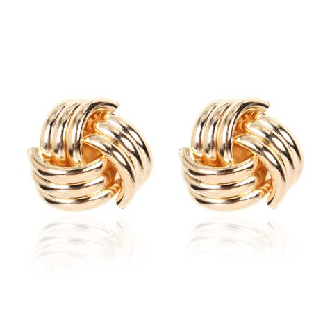New geometric wild spiral fashion alloy women's earrings  NHCT254467's discount tags
