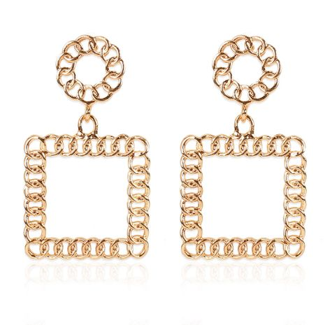 creative oily alloy geometric long all-match earrings wholesale NHCT254469's discount tags