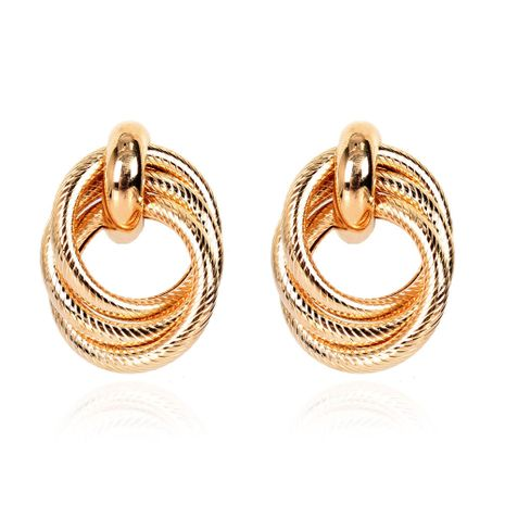 Fashion alloy geometric ring twisted earrings for women wholesale NHCT254471's discount tags