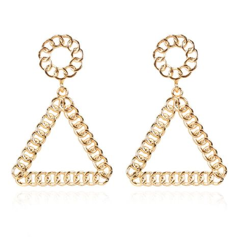 creative alloy triangle hollow chain fashion earrings wholesale NHCT254474's discount tags