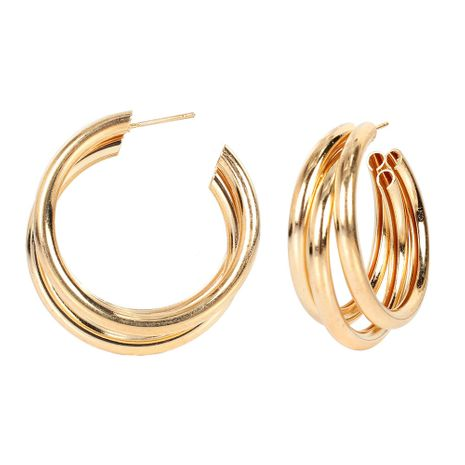 Korean retro alloy plating geometric women's earrings wholesale NHCT254478's discount tags