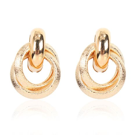 alloy geometric  hollow fashion all-match earrings wholesale NHCT254479's discount tags