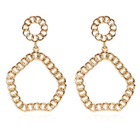 alloy geometric minimalist gold earrings wholesale nihaojewelry NHCT254475's discount tags