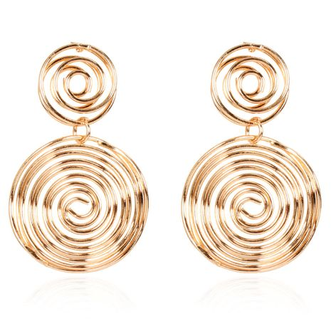 Creative retro alloy round gold and silver earrings wholesale NHCT254482's discount tags
