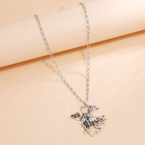 Punk hip-hop geometric creative retro  skull soldier camel necklace NHKQ254491's discount tags