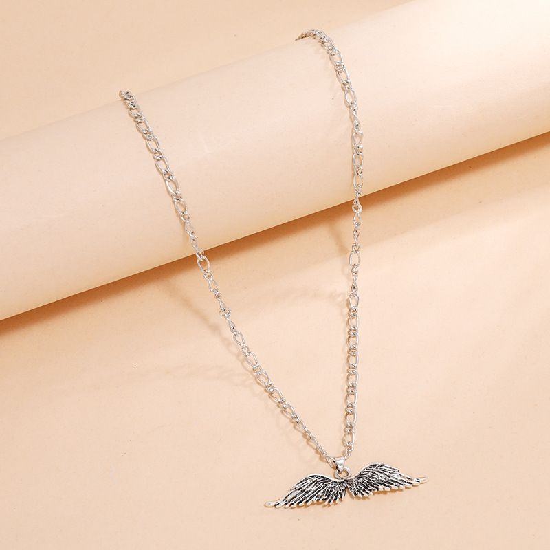 Fashion  angel devil wings exaggerated retro necklace NHKQ254492